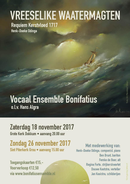 Flyer Bonifatius Ensemble - Kerstvloed 1717